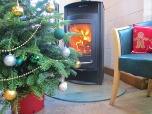 Christmas Tree by the Fire
