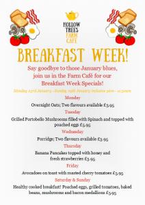 Breakfast Week menu